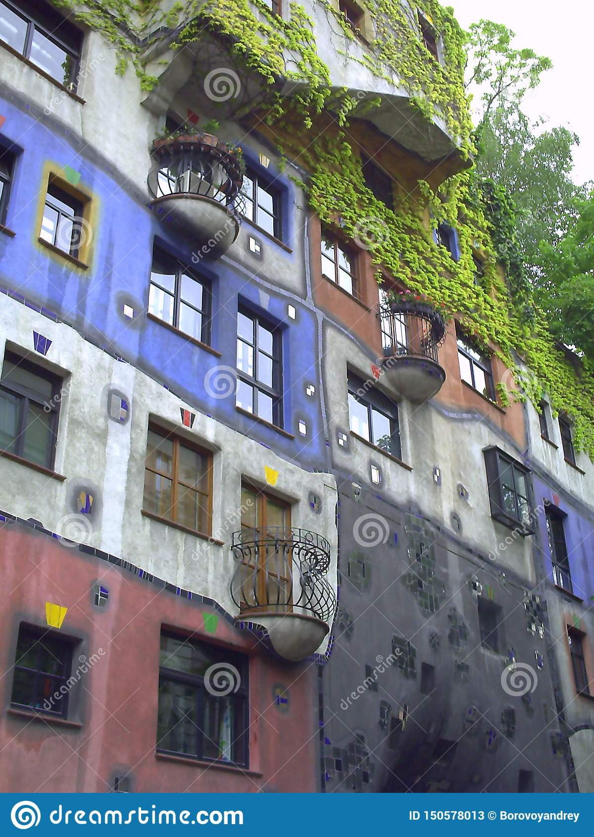 Hundertwasser hus i Wien ?sterrike