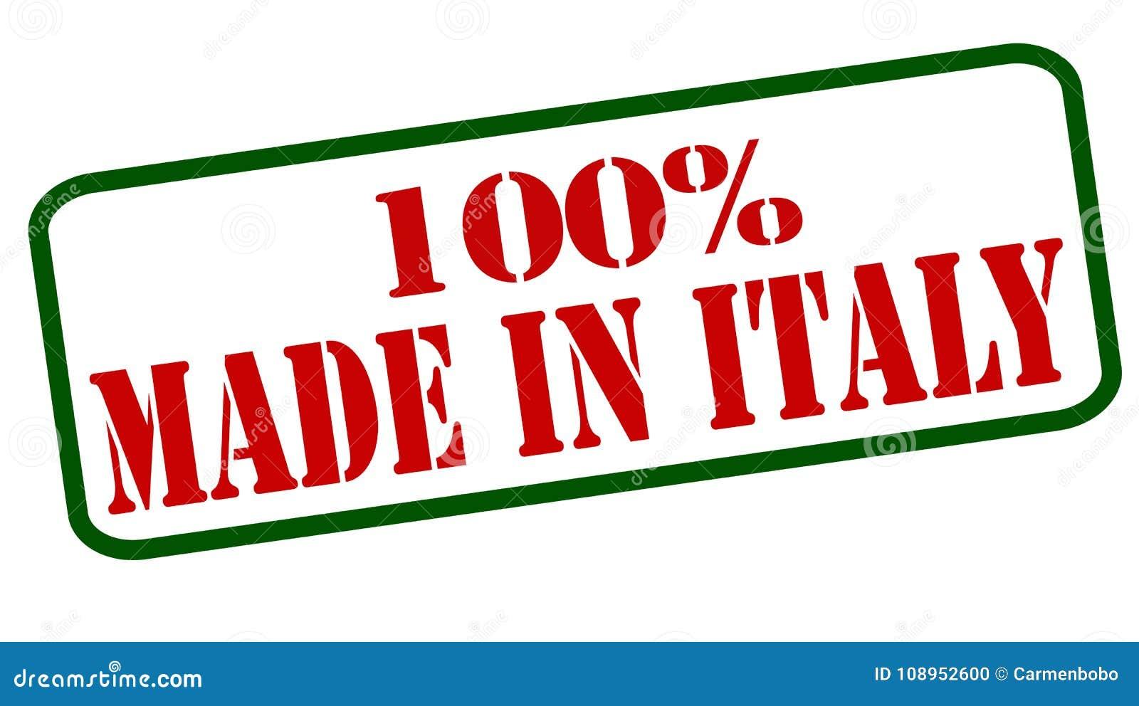 Hundra procent som göras i Italien