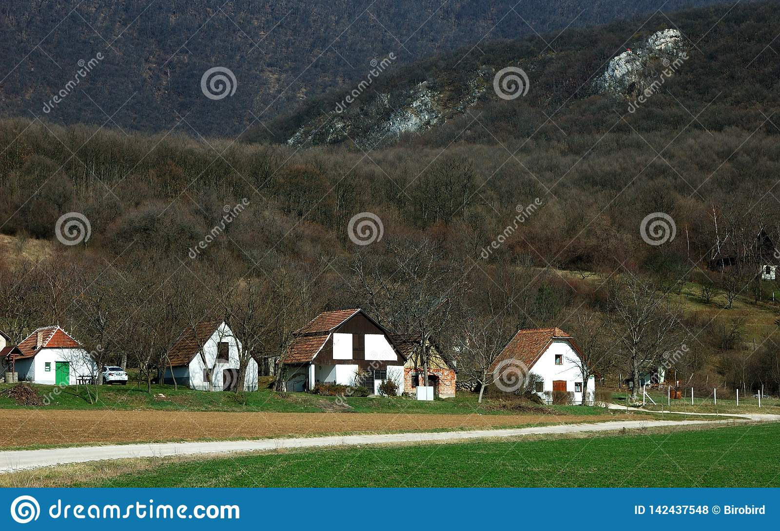 Hungarian farm in the mountains