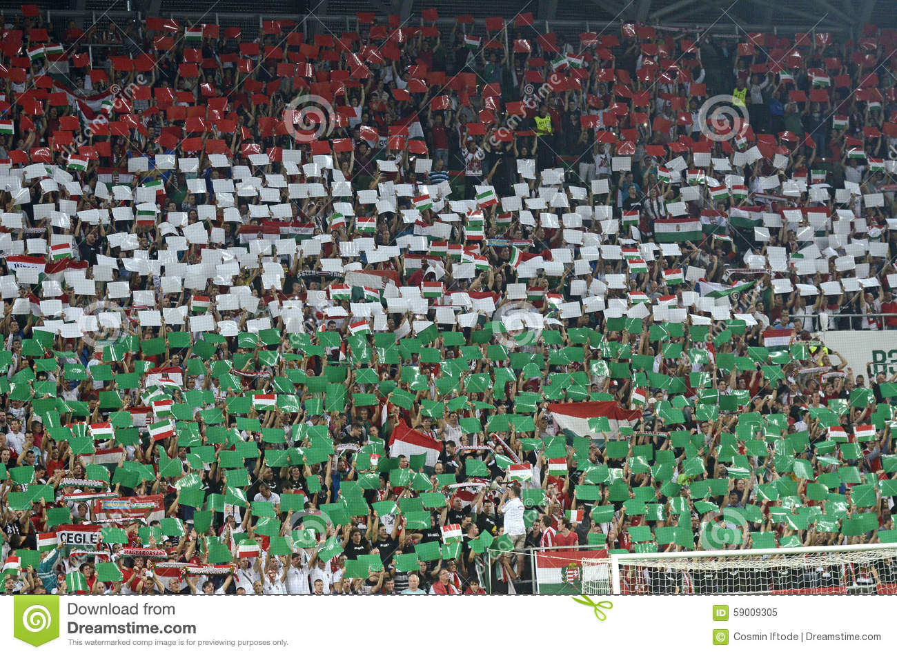 hungarian football fans editorial image image 59009305