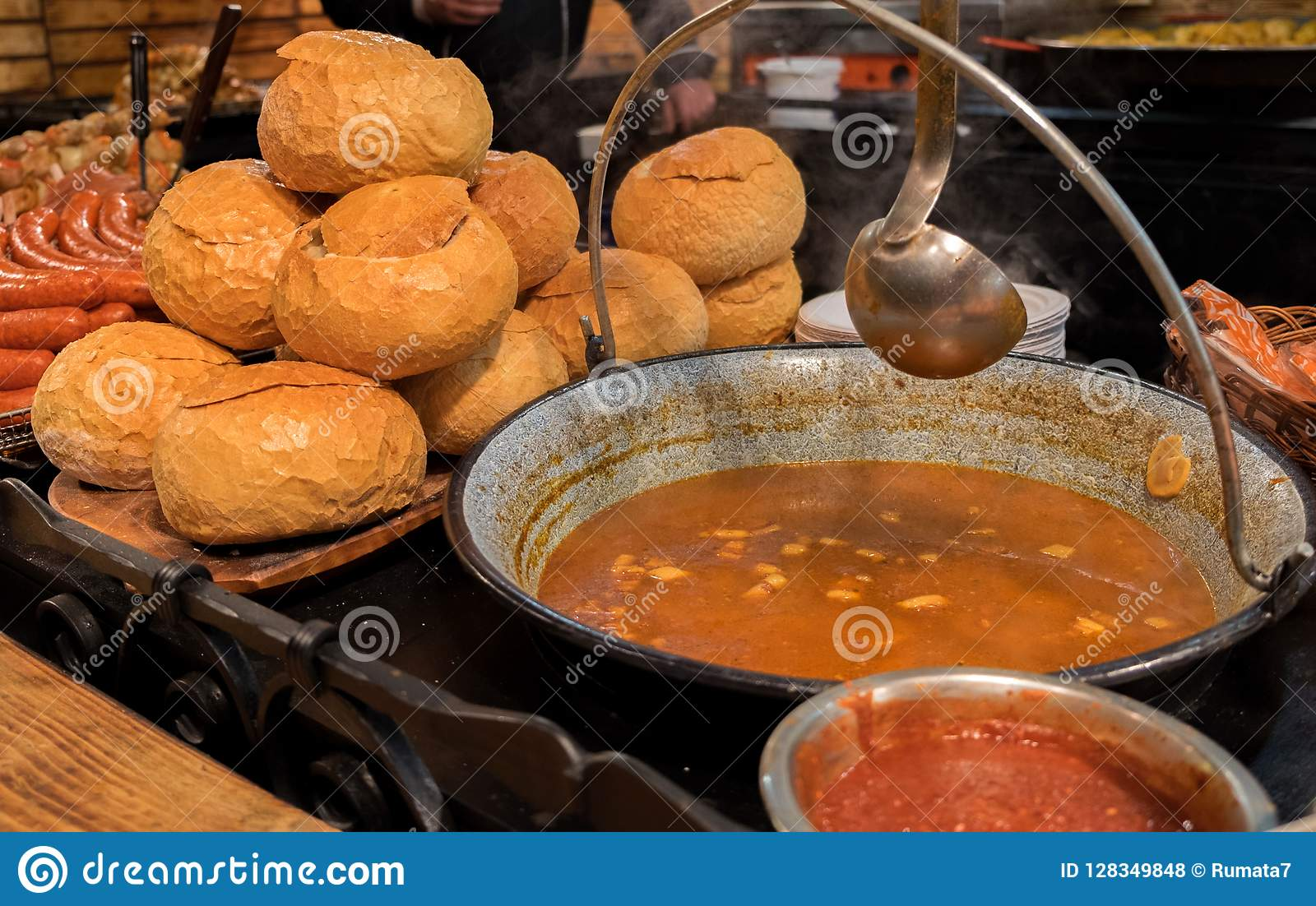 Hungarian Goulash - is a soup or stew of meat and vegetables