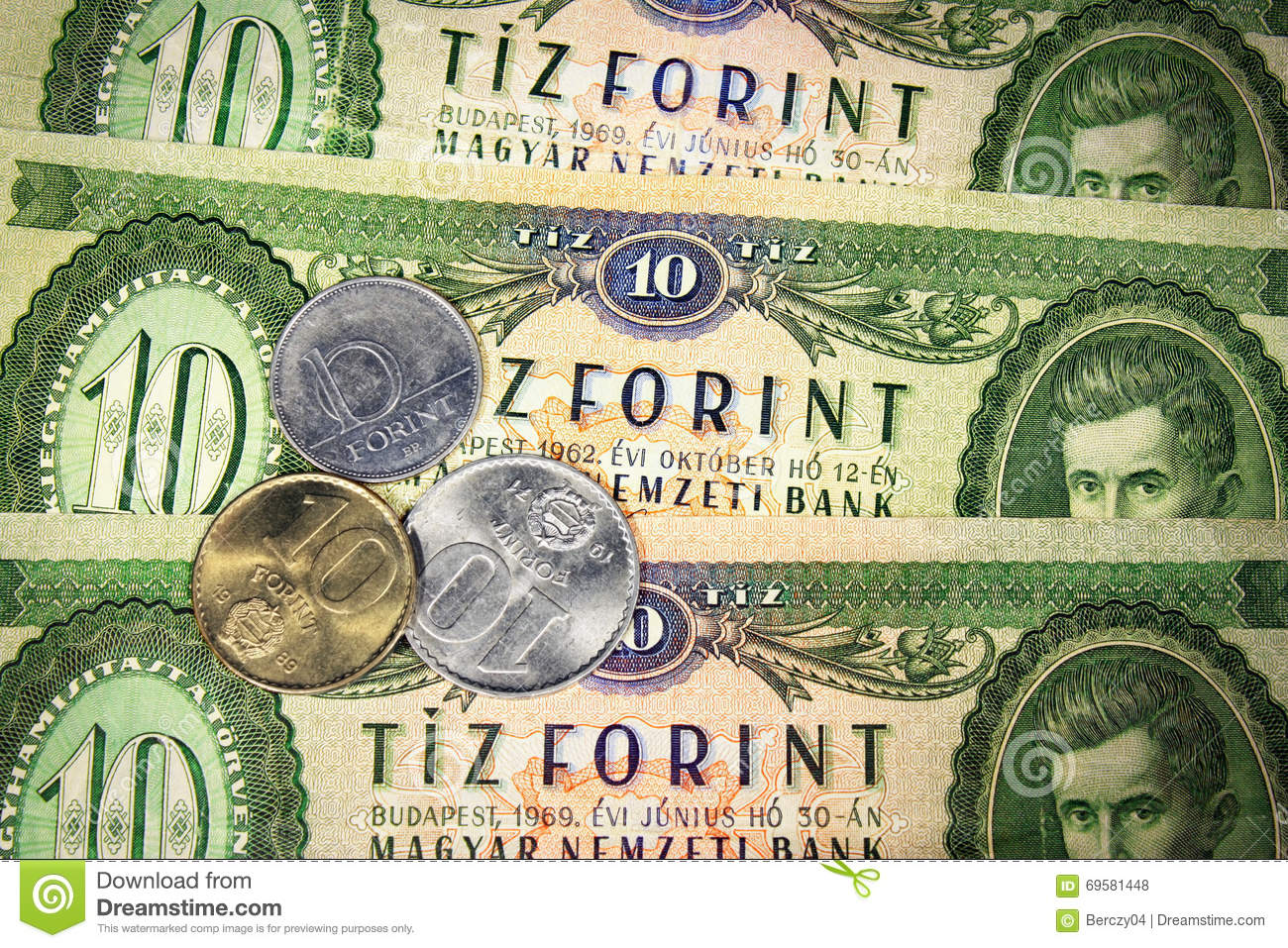 Hungarian old money stock photo  Image of denominations