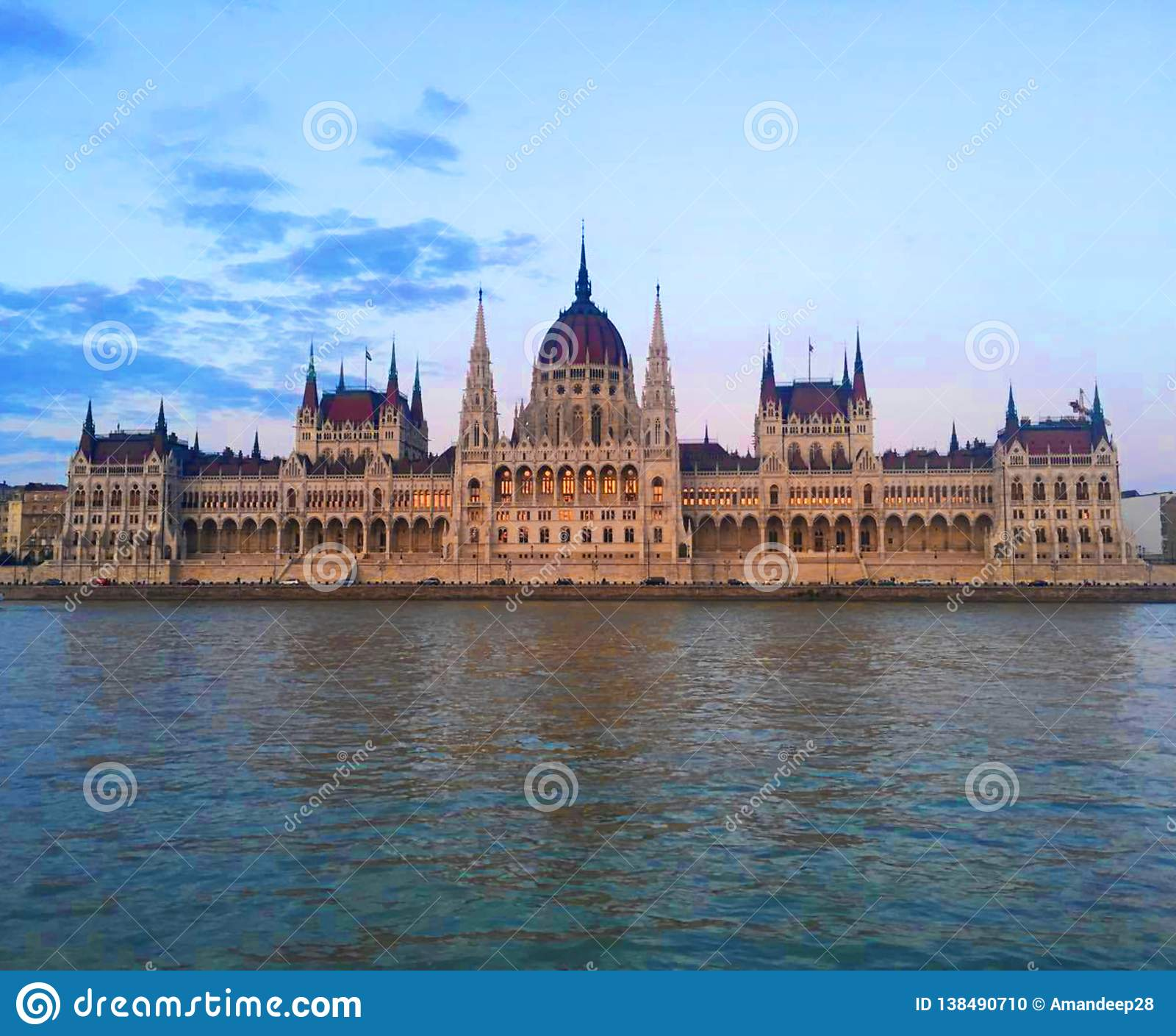 Hungarian Parliament Building at Sunset, Budapest