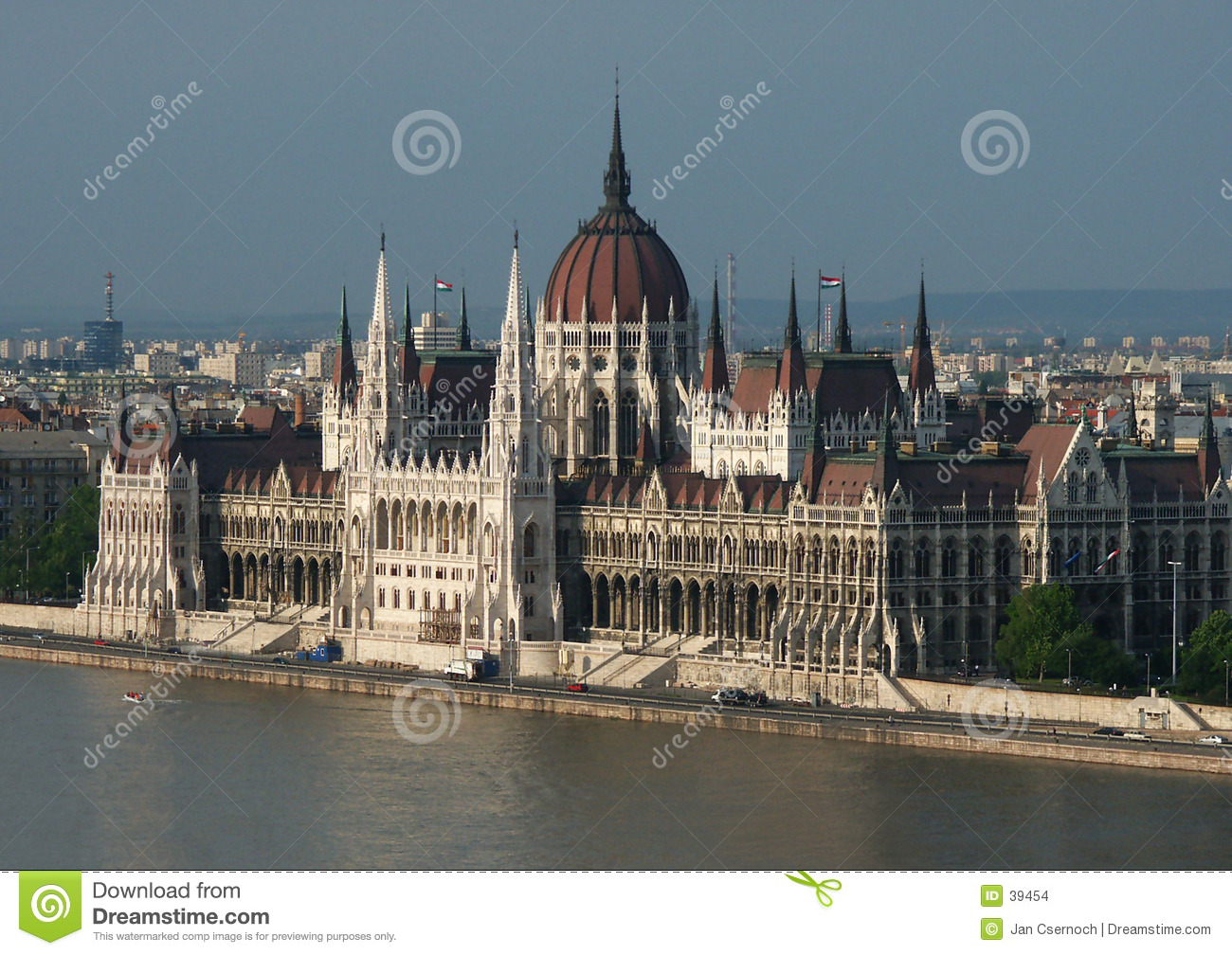 Hungarian Parliament by the Danube River