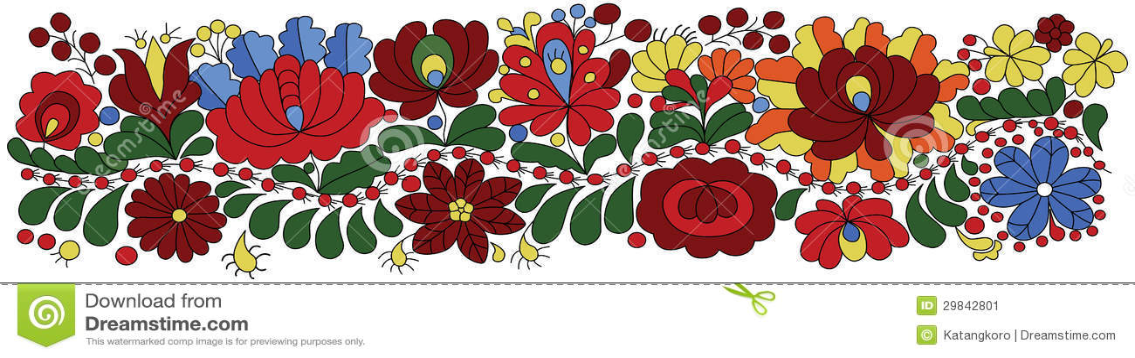 Teste padrão húngaro do bordado