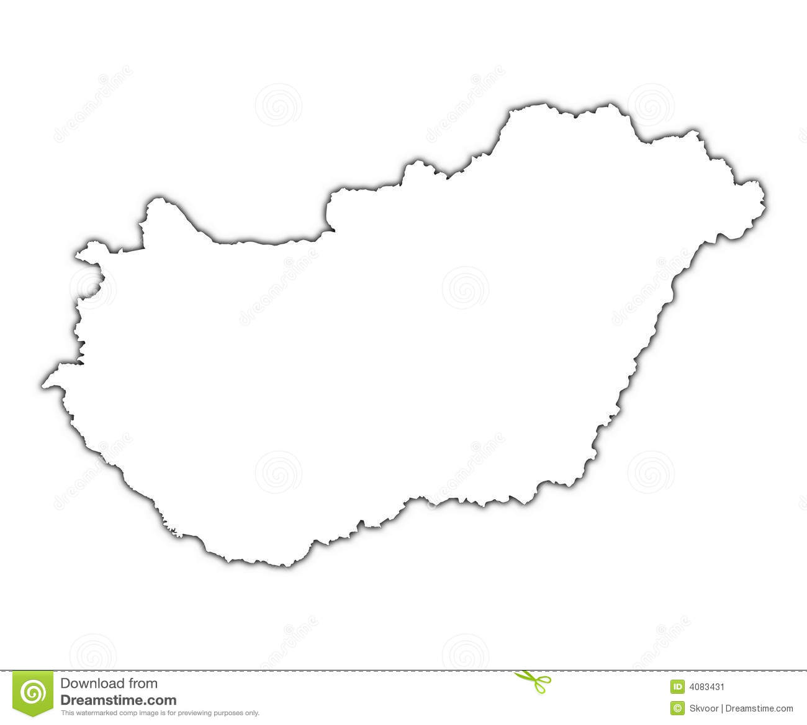 Hungary översiktsskugga