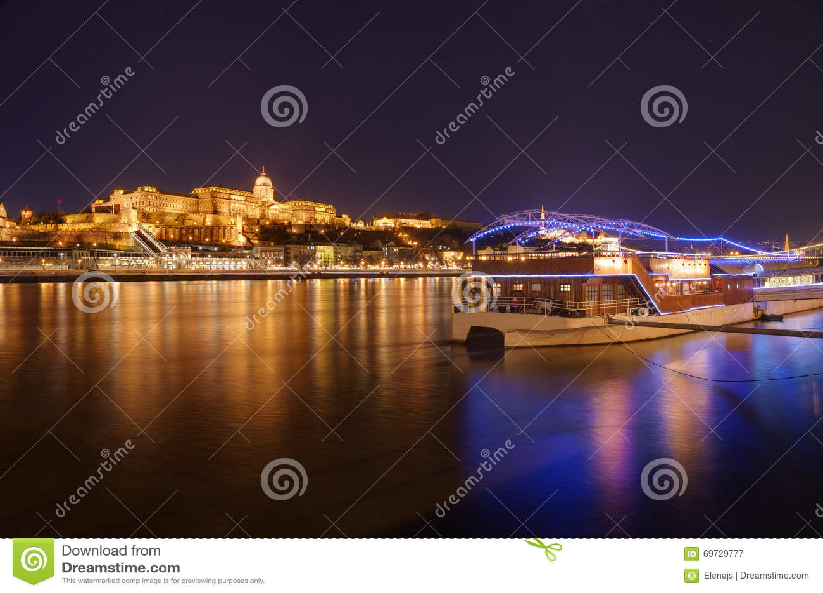 Hungary, Budapest, Castle Buda - night picture
