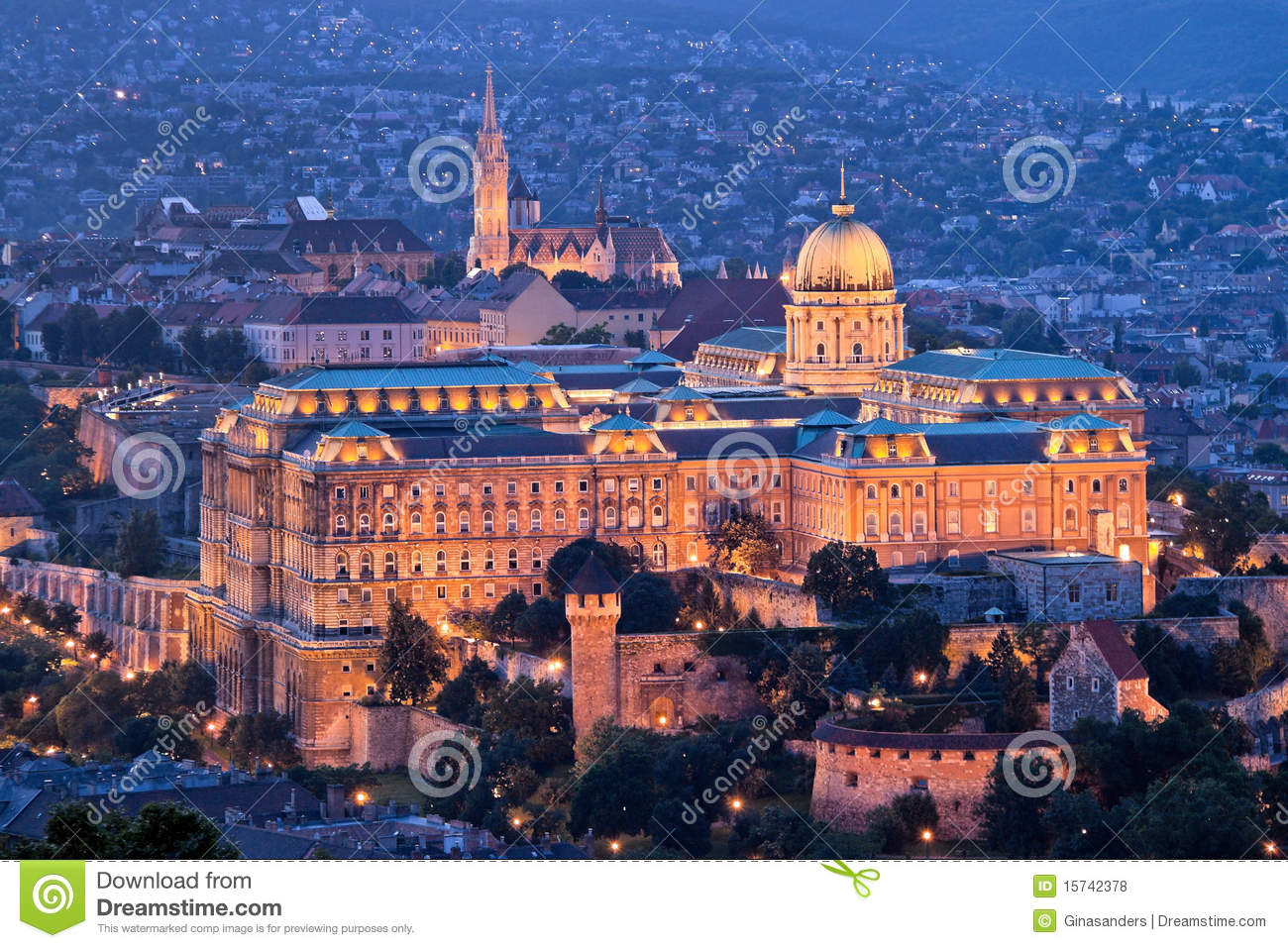 Hungary, Budapest, Castle Hill and Castle. City