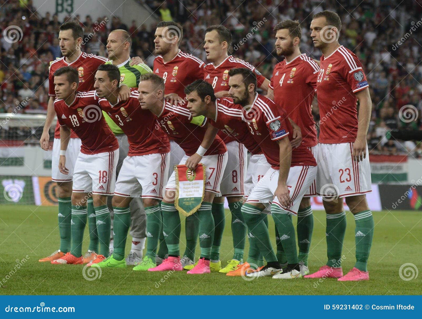 Hungary football team editorial photography  Image of shoot