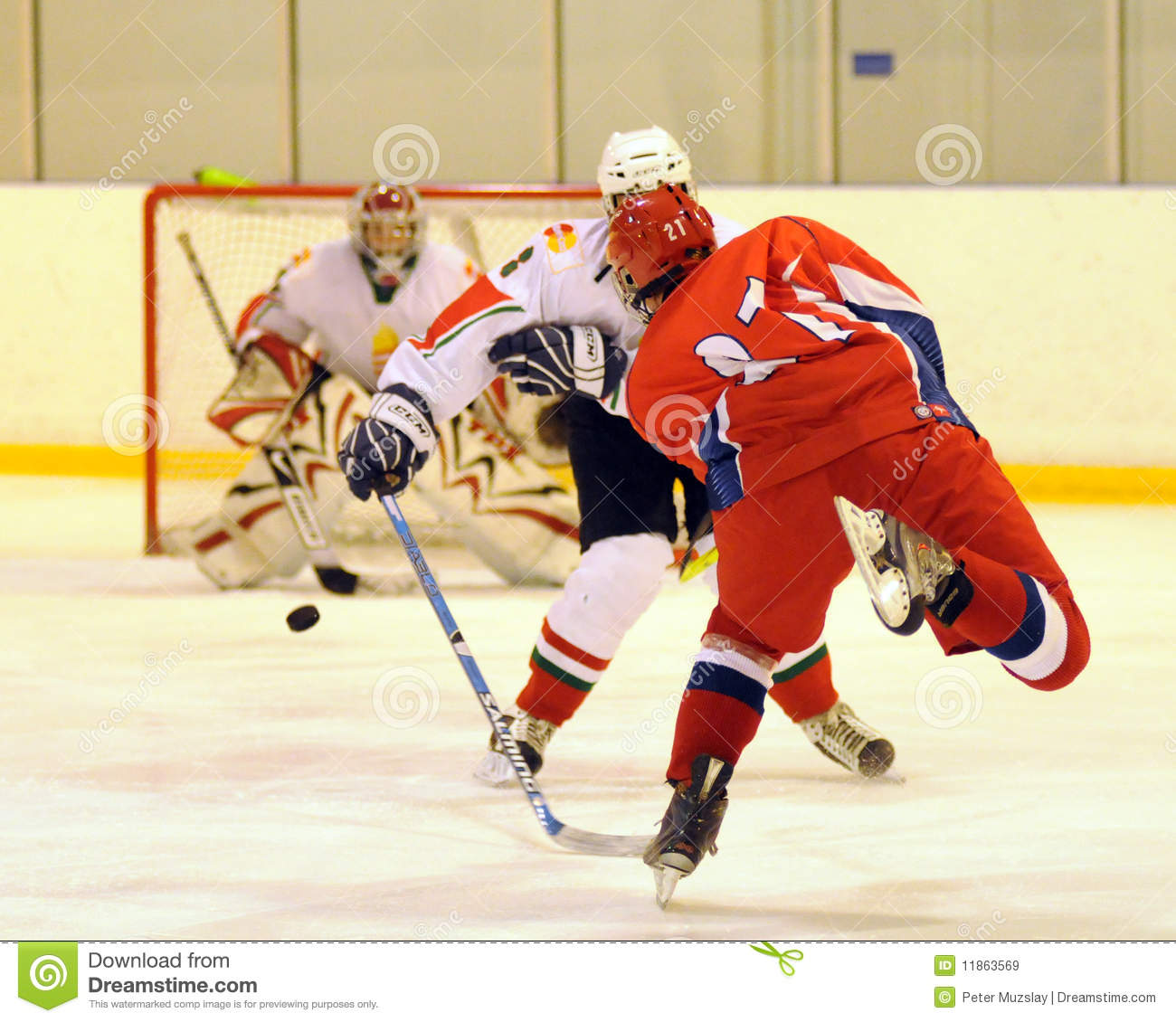 Hungary - Russia youth national ice-hockey match