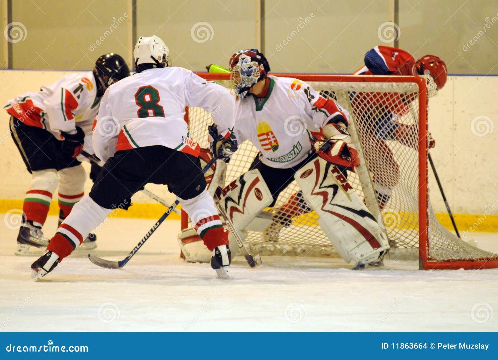 Hungary - Russia youth national ice-hockey match