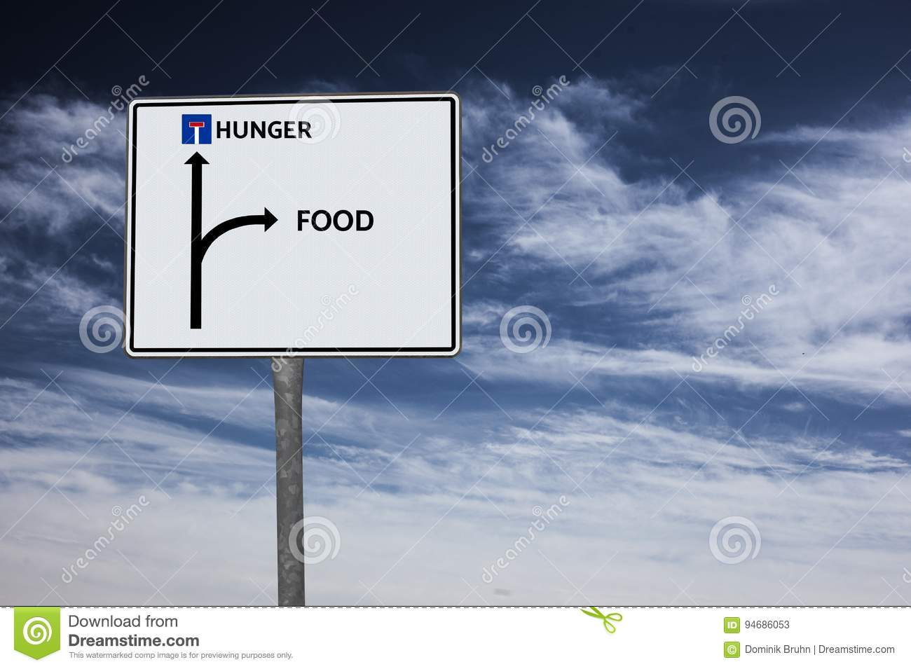 Hunger Food Image With Words Associated With The Topic Famine