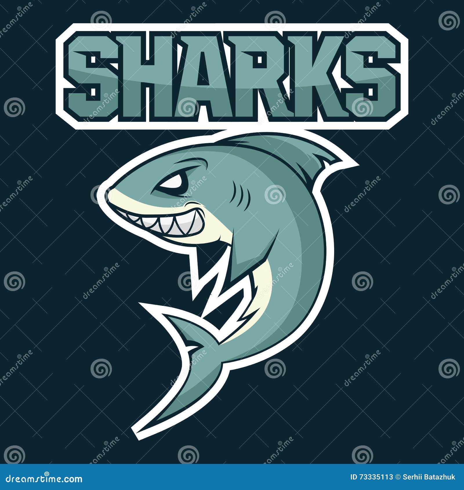Hungrig haj som är ilsken, tecknad film