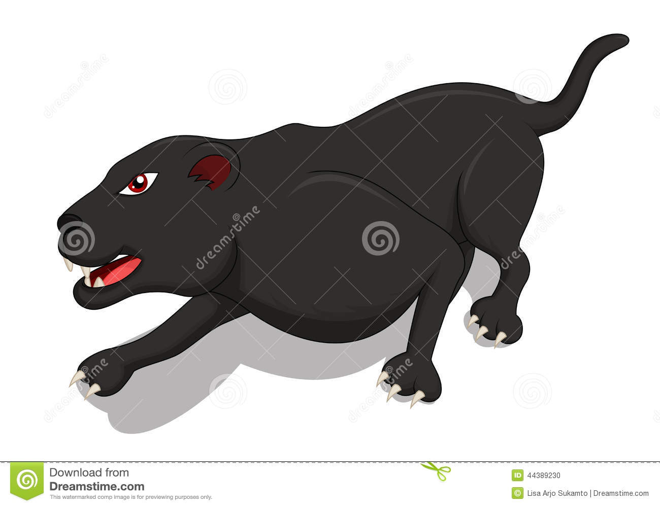Hungry Black Panther Cartoon Stock Vector - Image: 44389230