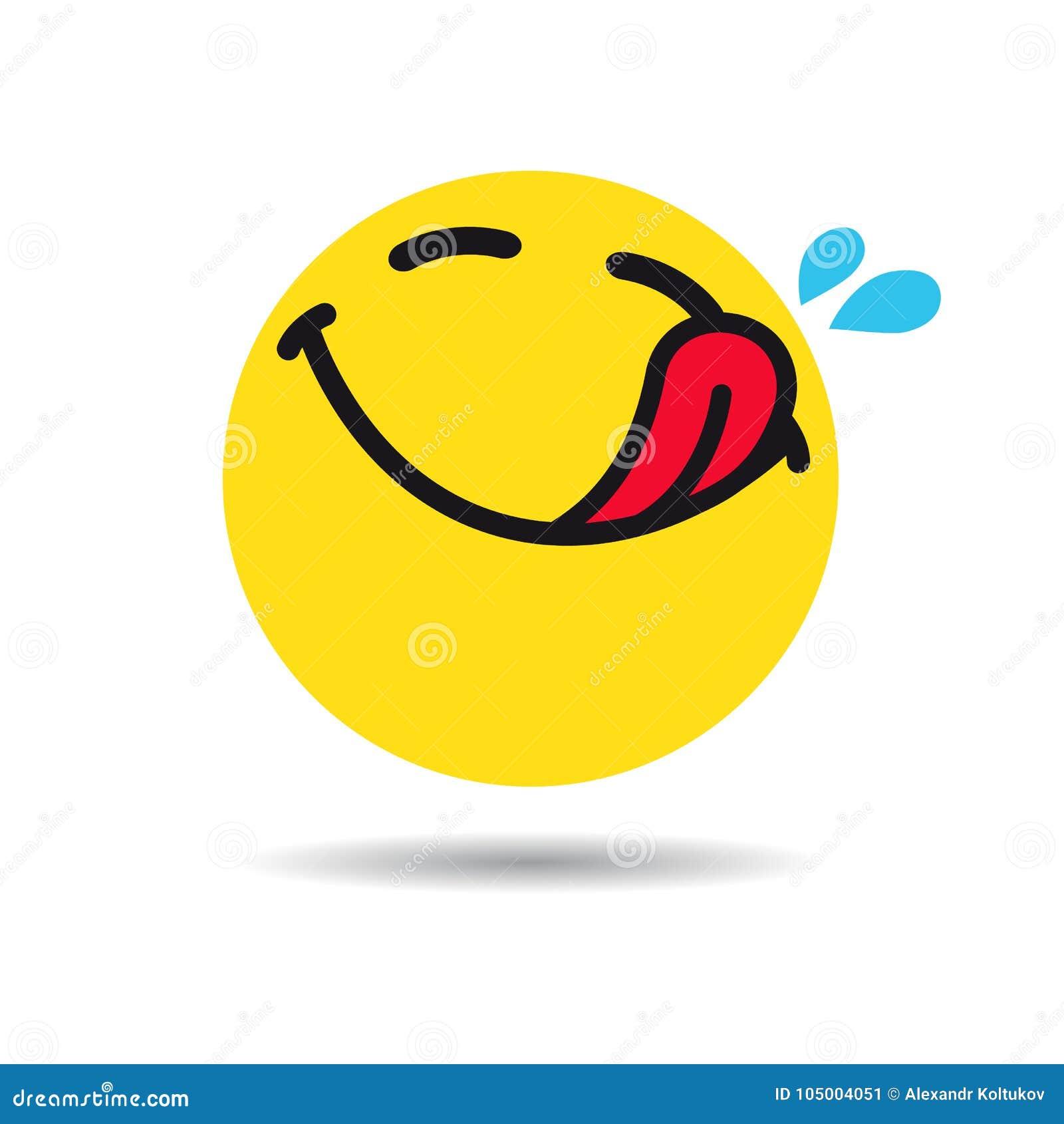 Hungry Emoticon Or Emoji Symbol Stock Vector Illustration Of