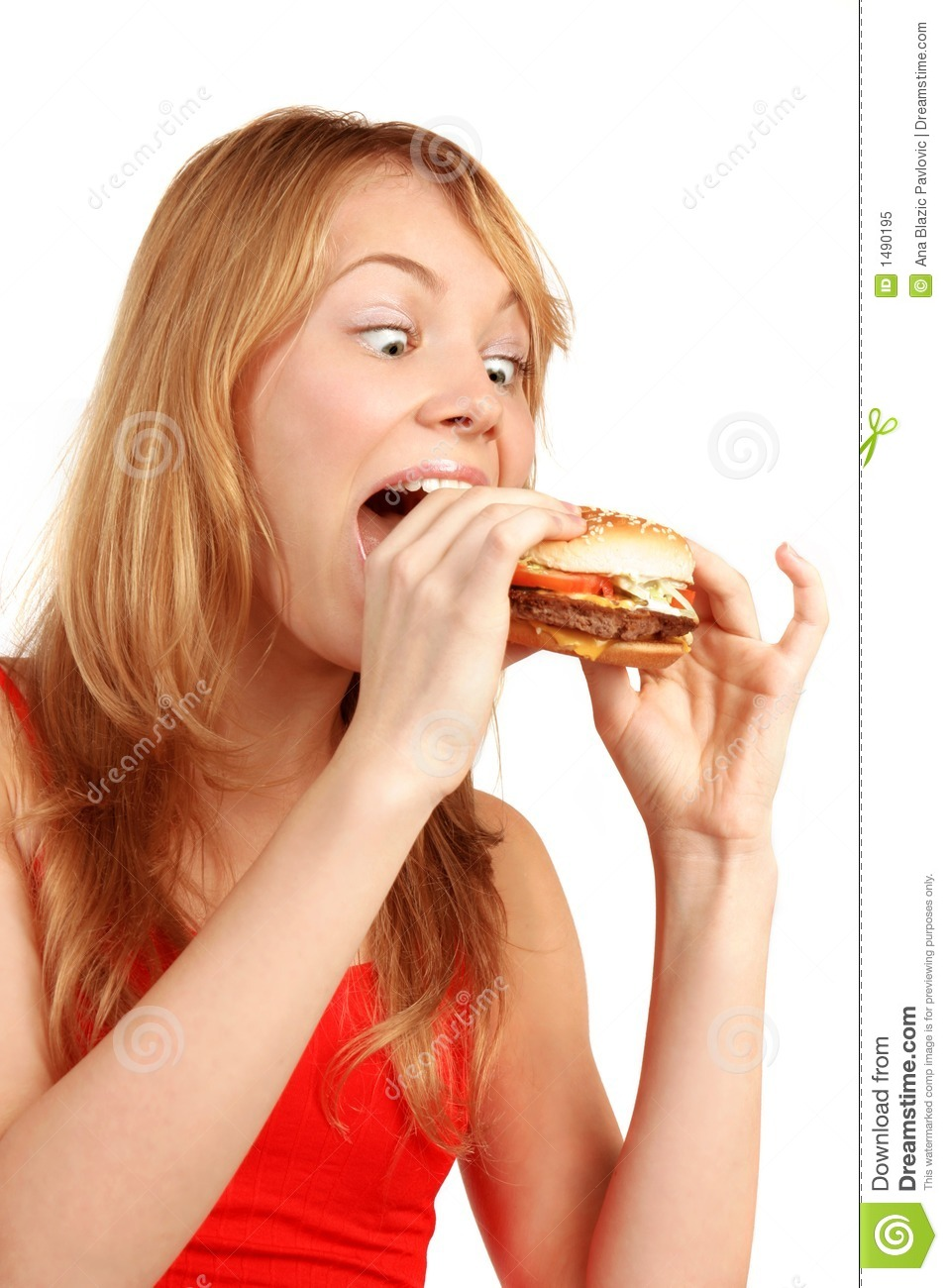 Hungry Girl Royalty Free Stock Photo - Image: 1490195