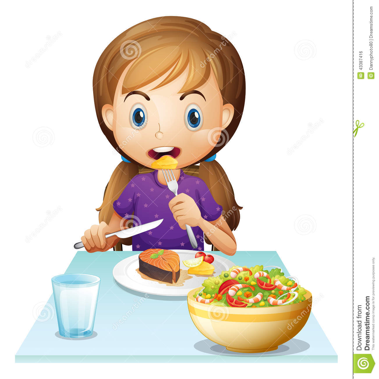 clipart girl eating breakfast - photo #17