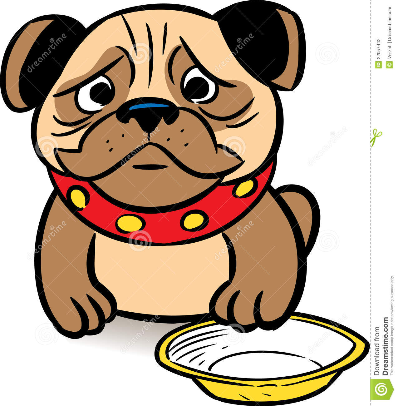Hungry pug stock vector. Illustration of puppy, small ...