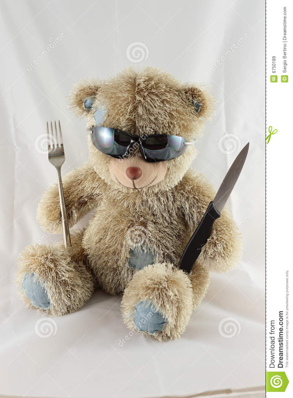 Hungry Teddy Bear Stock Image Image Of Tool Life Tools