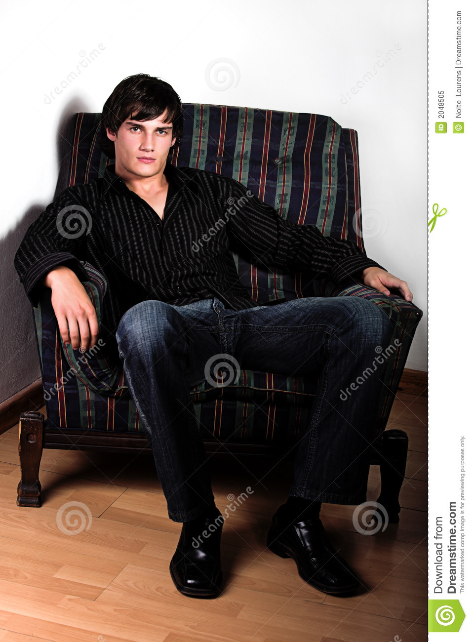 Hunk On Chair Royalty Free Stock Photo Image 2048505