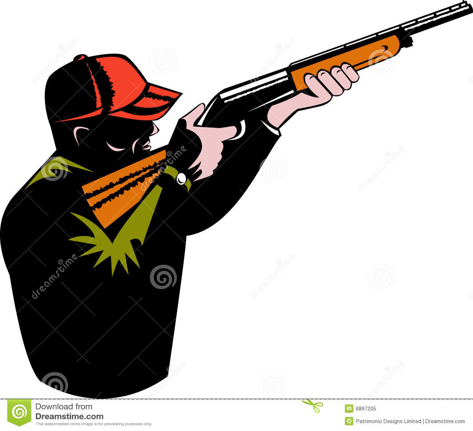 Hunter Aiming A Shotgun Royalty Free Stock Photo - Image ...