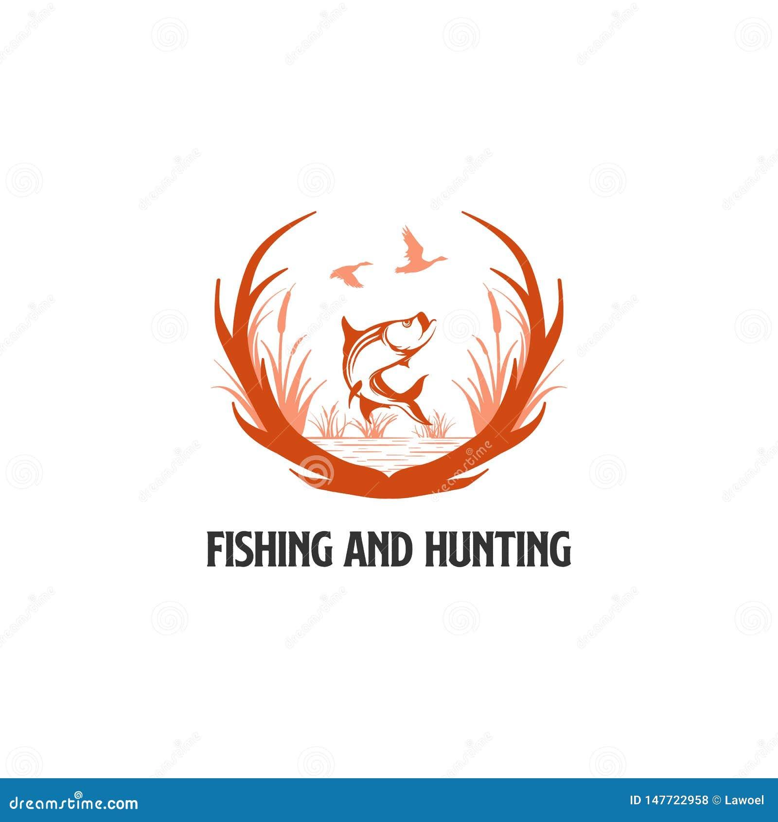 Hunter Club Abstract Vintage Label of Logo Template met Geweitakken, Texturen en Retro Typografie Ook Goed voor Affiches, Flayers
