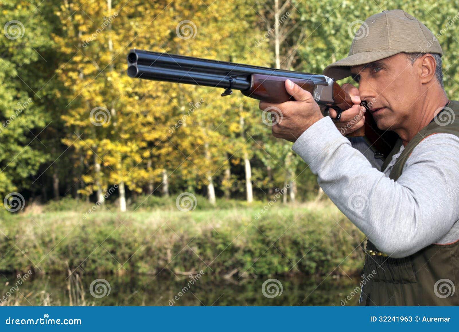 Hunter With A Gun Stock Photos - Image: 32241963