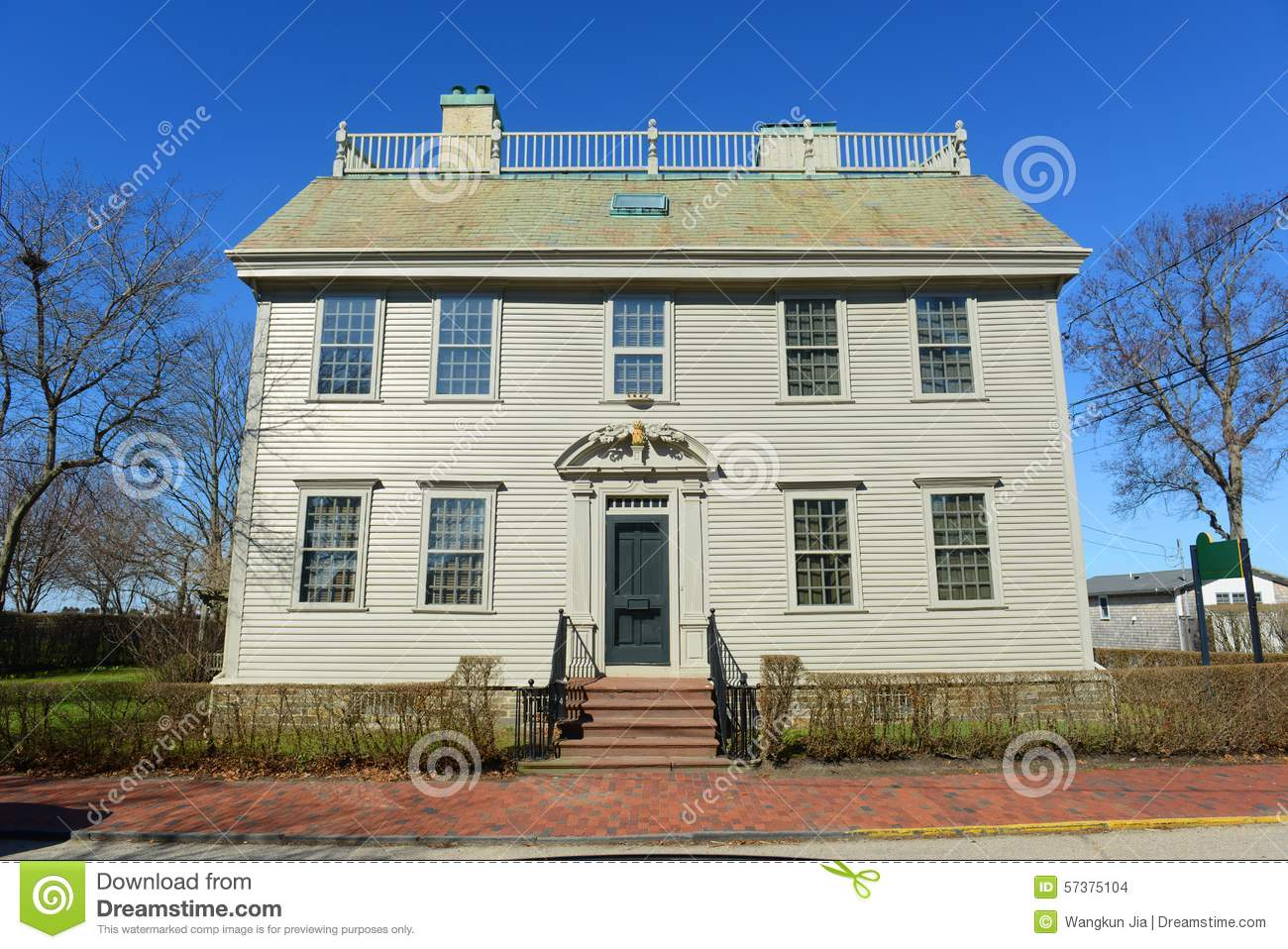 Hunter House Rhode Island Usa Stock Photo Image 57375104