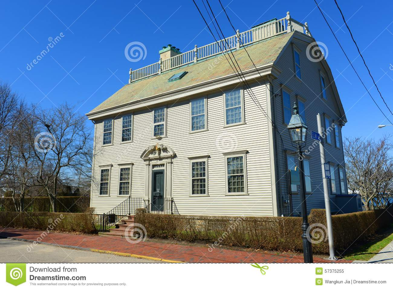 Hunter house rhode island usa stock photo image 57375255 - The home hunter ...
