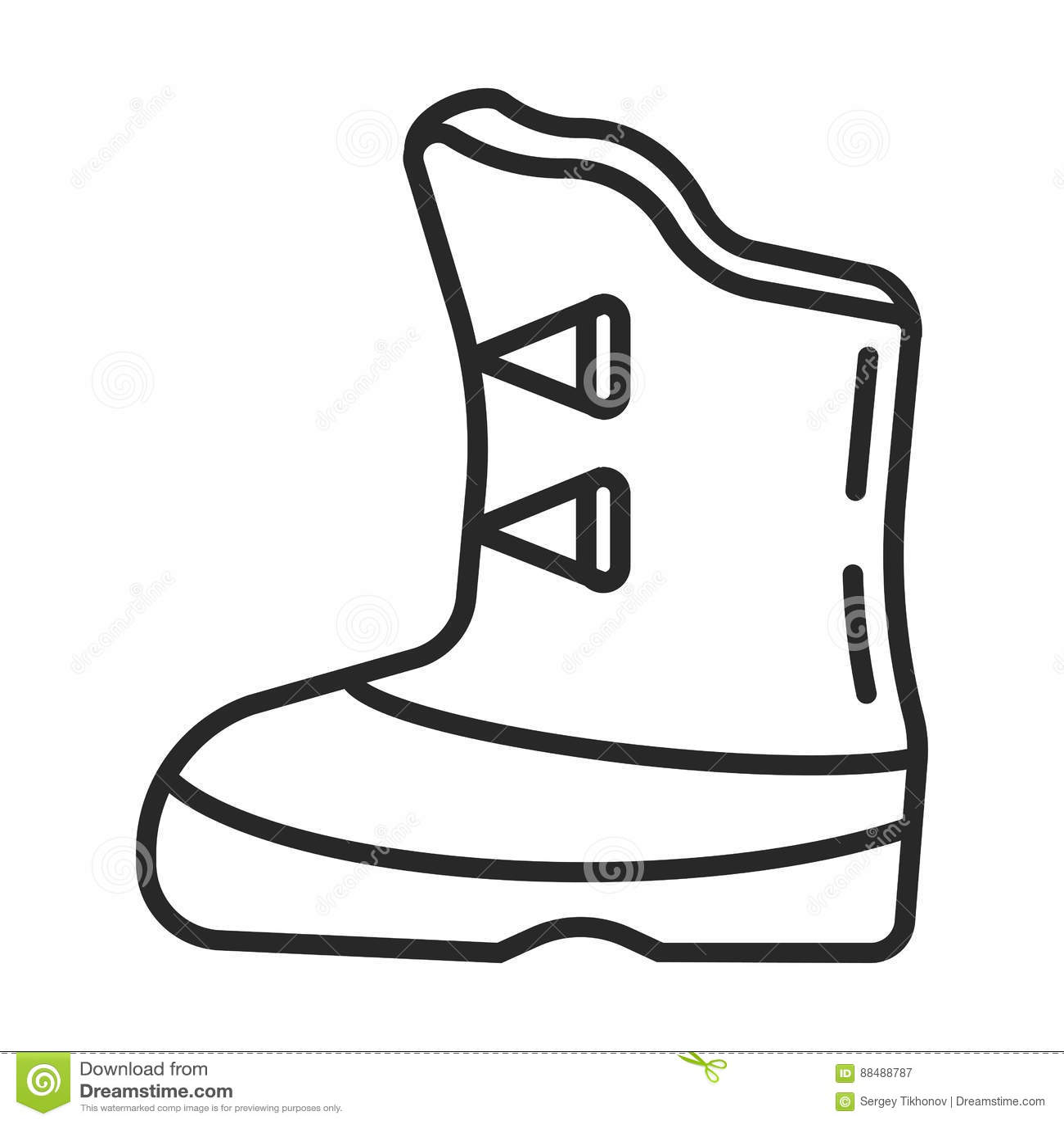 Hunting Boots icon stock illustration. Illustration of