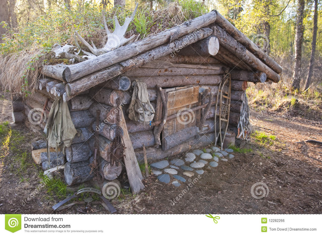 Hunting Cabin Plans Hunting Cabin Stock Photo Image Of Recreational