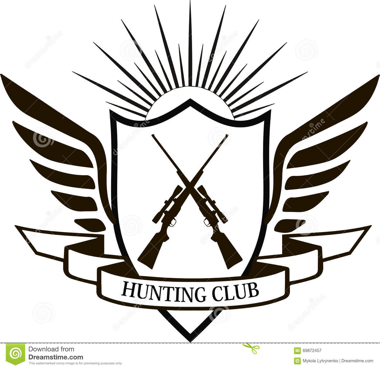 Hunting Club, Fishing And Illustrations Logo. Vector