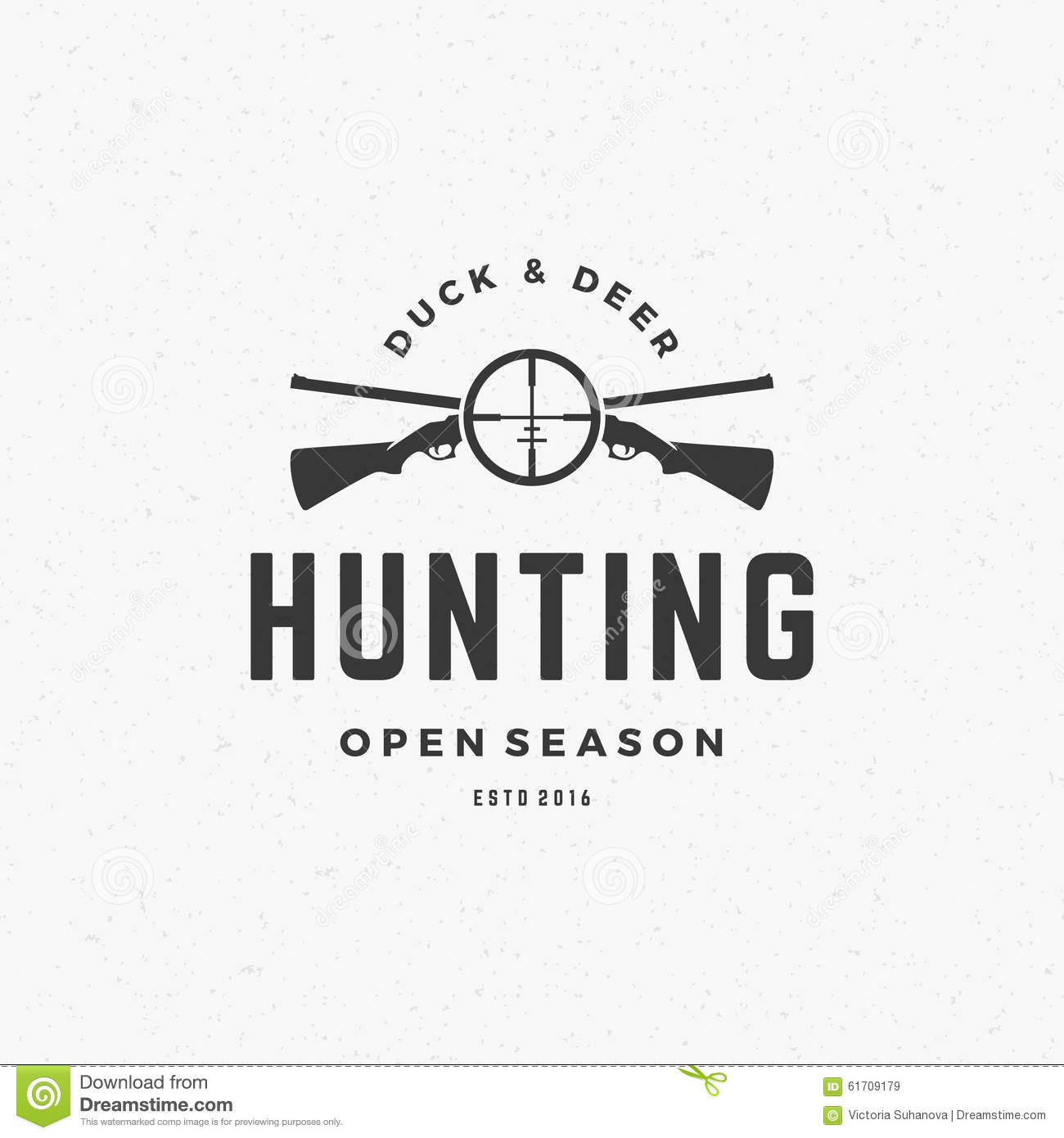 hunting club logo icon vector illustration 87352004. Black Bedroom Furniture Sets. Home Design Ideas