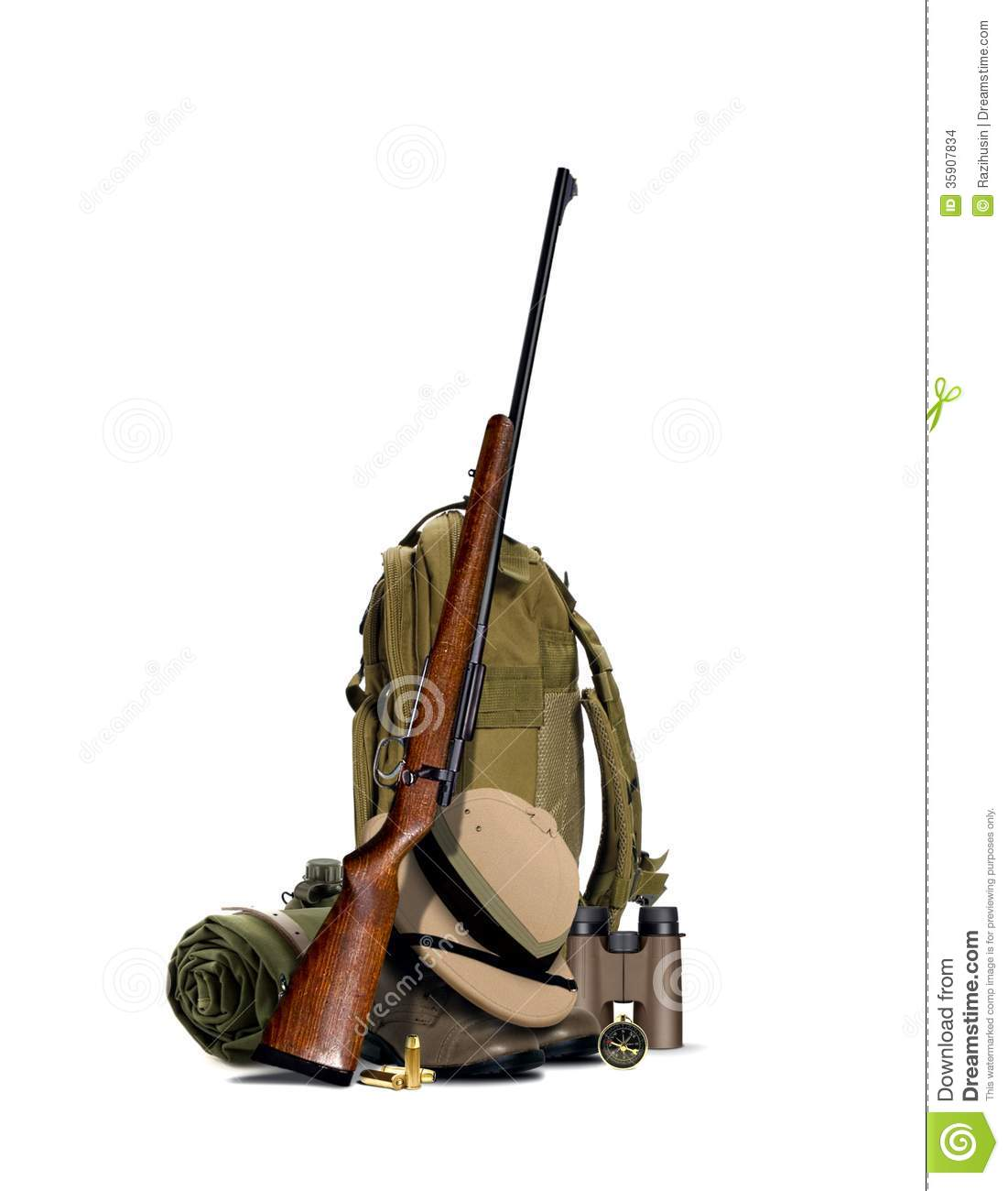 Hunting Equipment Stock Images - Image: 35907834