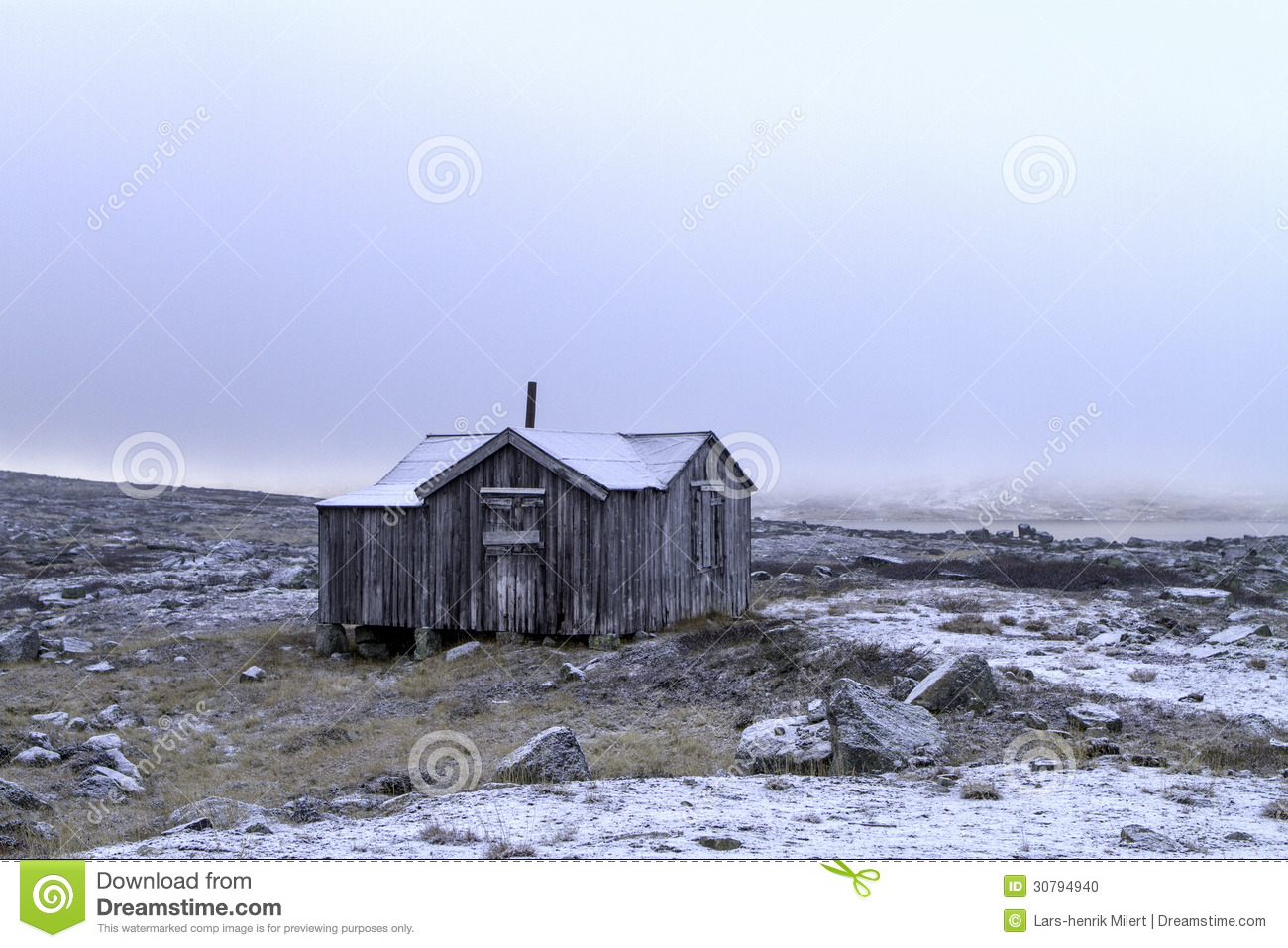 Hunting hut stock photo image 30794940 for Hunting hut plans