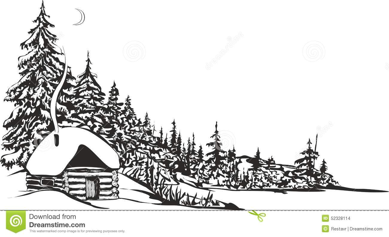 Hunting hut stock vector image 52328114 for Hunting hut plans