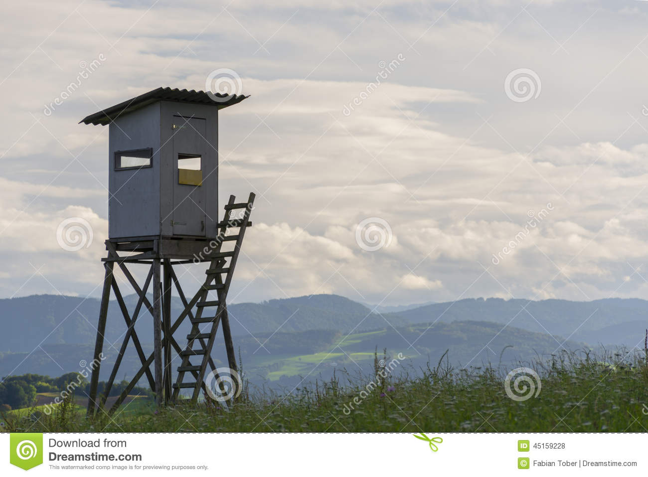 Hunting hut stock photo image 45159228 for Hunting hut plans