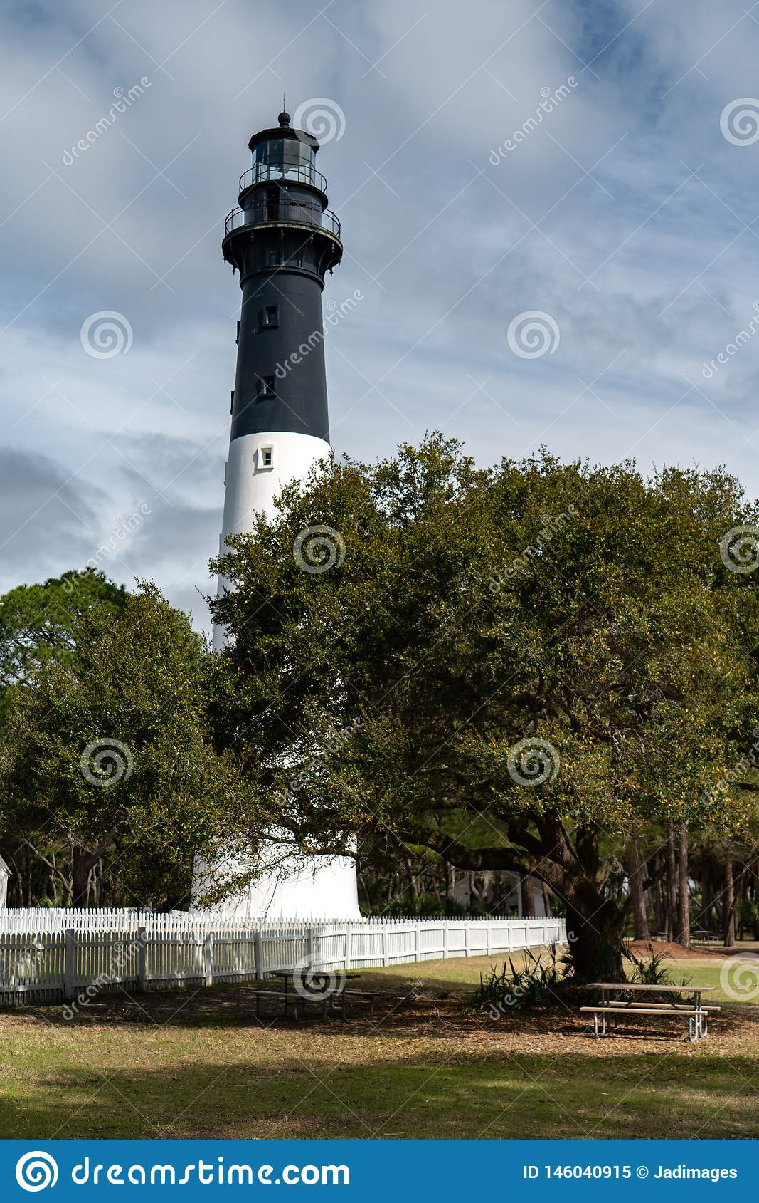 Hunting Island Lighthouse Near Beaufort, SC Stock Image