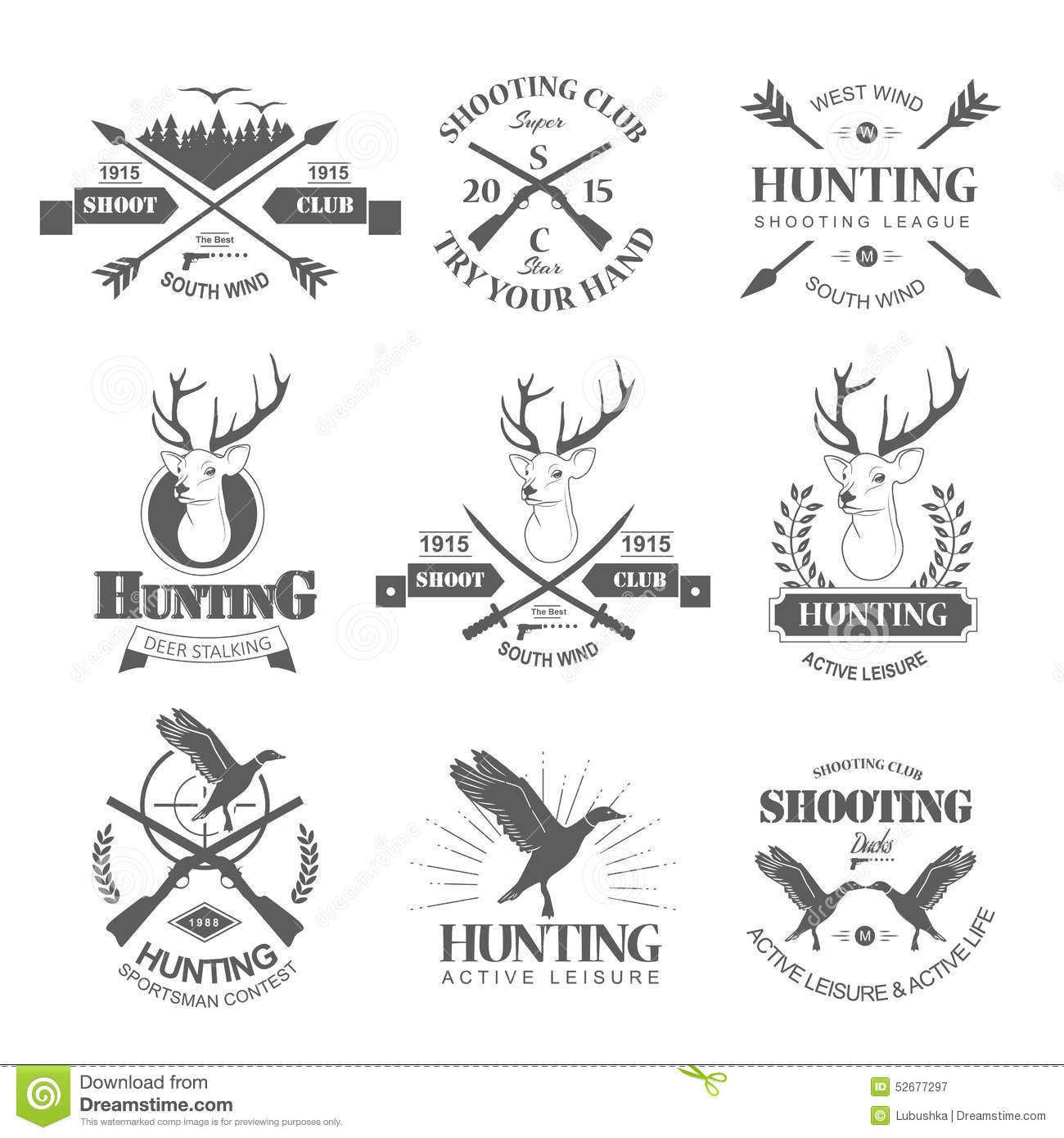 hunting stock vector image 52677297