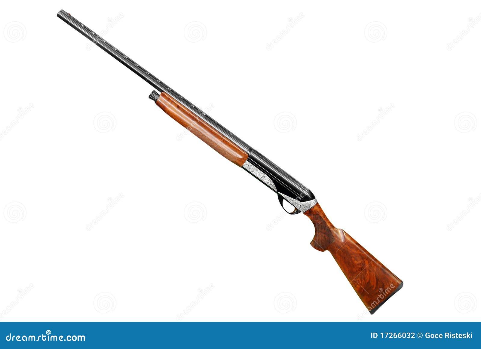 Hunting Shotgun Isolated On White Stock Photography - Image: 17266032
