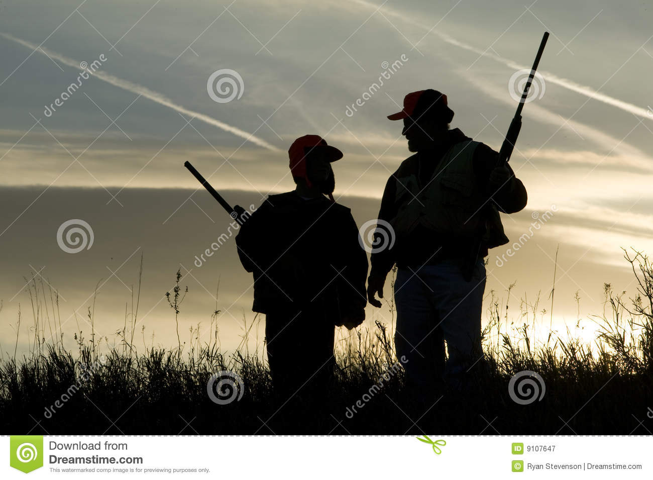 Hunting Silhouette Royalty Free Stock Photography - Image: 9107647
