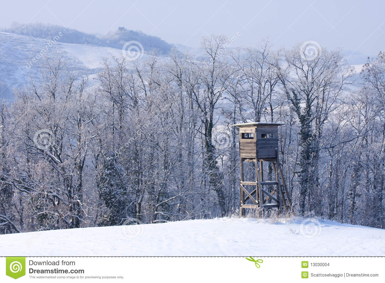 Hunting deer and wildboar tower