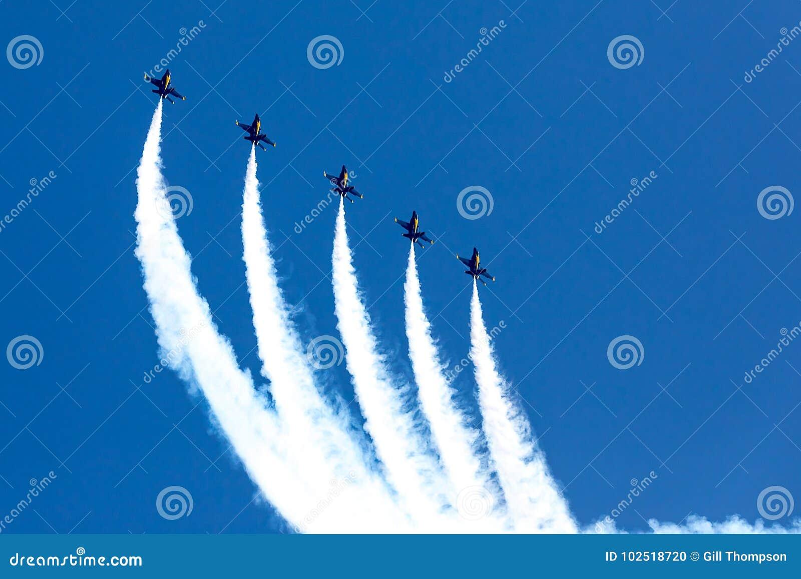 Huntington Beach 2017 Airshow - blaue Engel