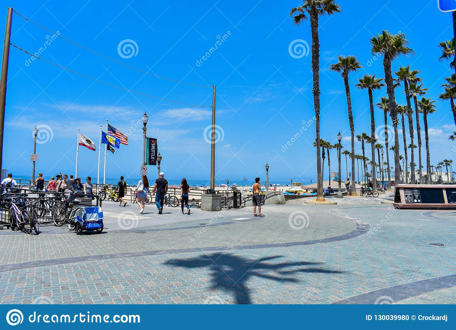 7-8-18 Huntington Beach, Ca un jour ensoleillé