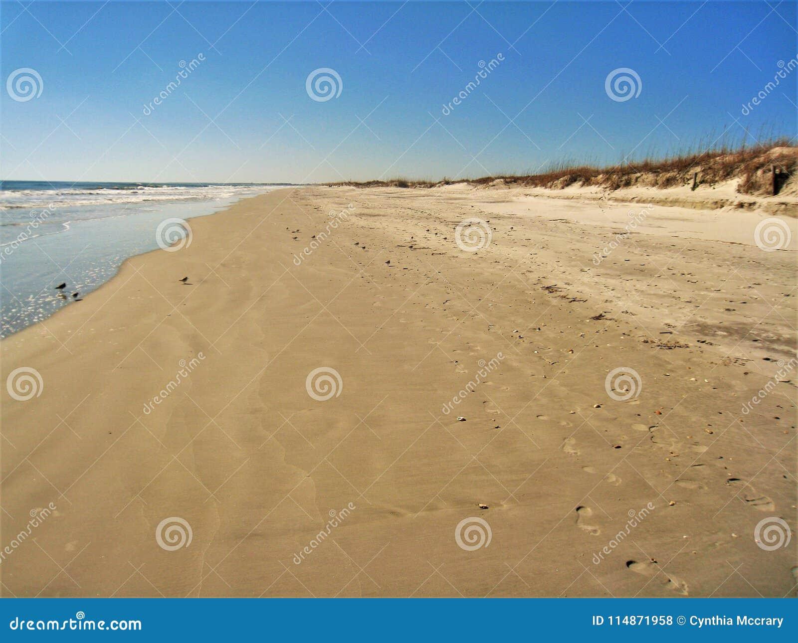 Huntington Beach-Dünen, Sand und Meer