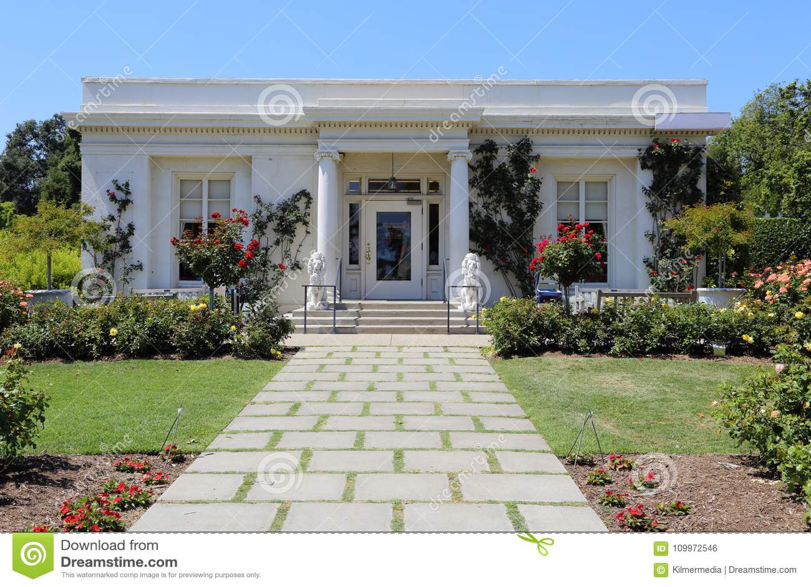 Huntington Gardens Tea House Exterior Near Pasadena Ca