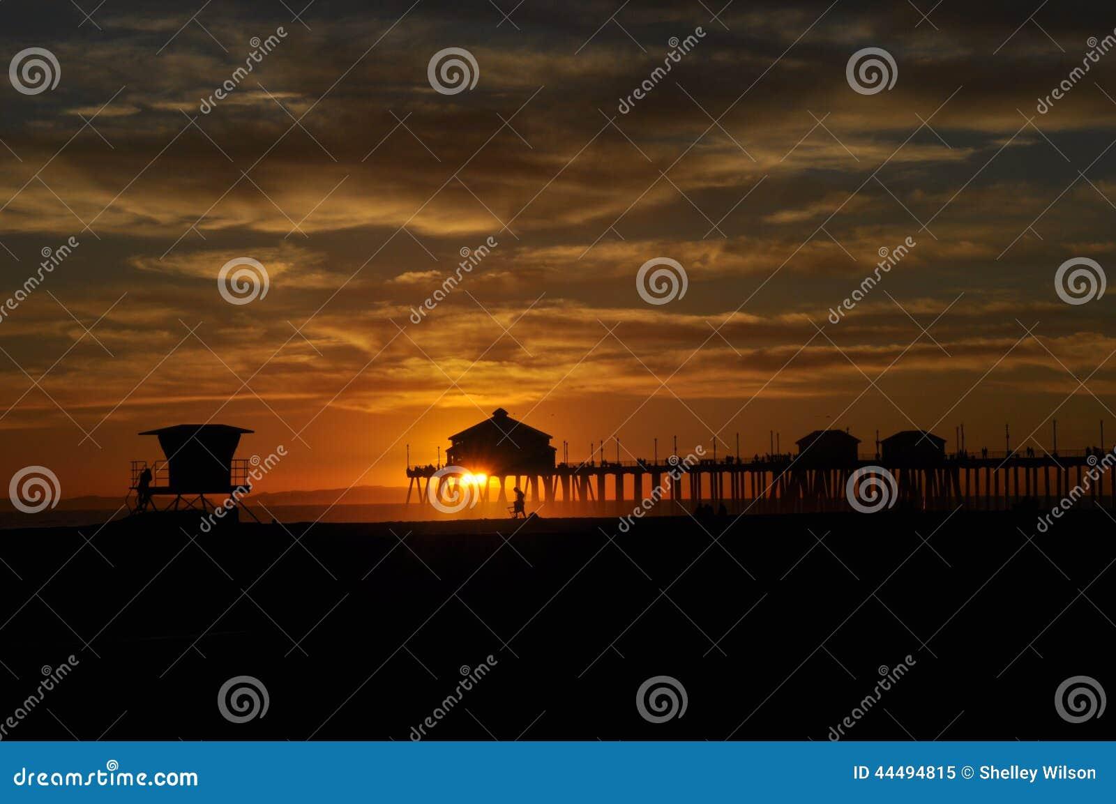 Huntington plaży molo