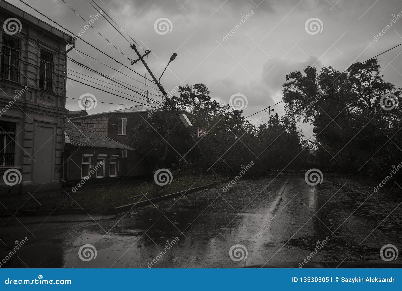 Huragan w mieście Taganrog, Rostov region, federacja rosyjska Wrzesień 24, 2014