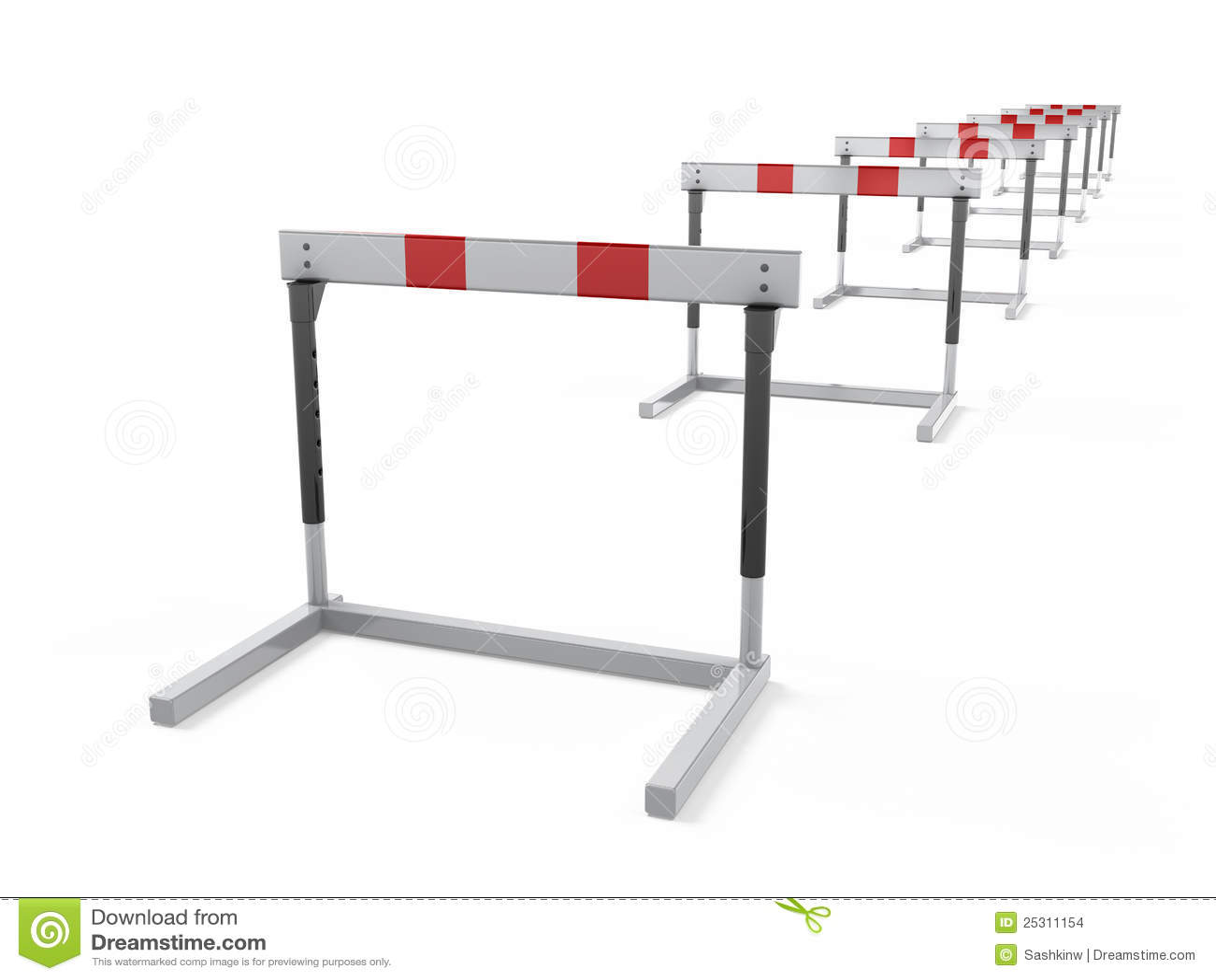 Hurdles Stock Images - Image: 25311154
