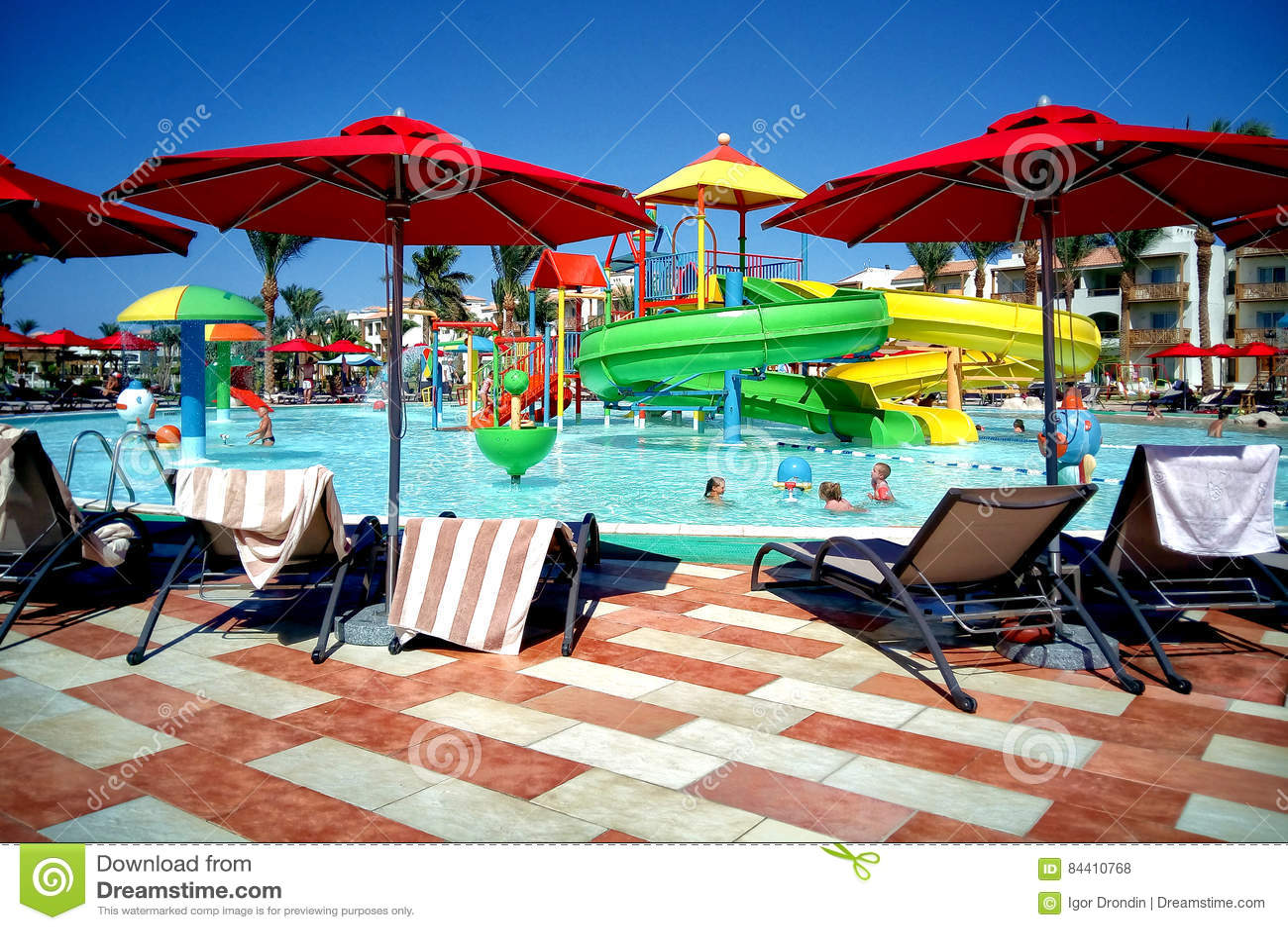 Hurghada, Egypte - 15 août 2015 : L hôtel cinq étoiles luxueux Dana Beach Resort dans Hurghada est un du Pickalbatros Est un t po